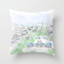 Washington Capitol Throw Pillow