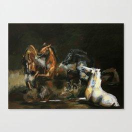 The Horses of Roan/ Scorpio Races Canvas Print