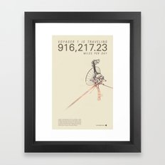 VOYAGER ONE - Space | Time | Science | Planets | Travel | Interstellar Mission | NASA Framed Art Print