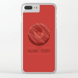 1DONUT - PANTONE Valiant Poppy Clear iPhone Case