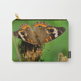 COMMON BUCKEYE BUTTERFLY IN THE FALL (Close-Up) Carry-All Pouch