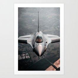 Danish Air Force F-16 Fighterjet Art Print