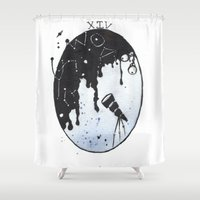 shakespeare Shower Curtains featuring Shakespeare Sonnet XIV by Gardensounds