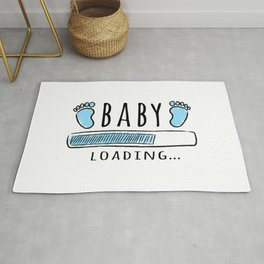 pregnancy announcement baby is loading Rug