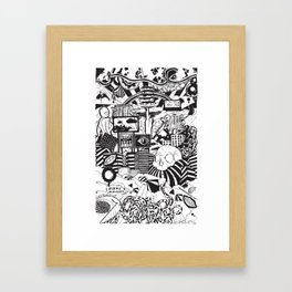 Doughnut City Framed Art Print