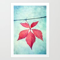 be happy Art Prints featuring happy by Claudia Drossert