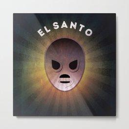 El Santo Metal Print