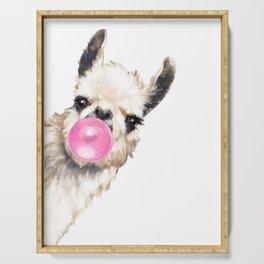 Bubble Gum Sneaky Llama Serving Tray
