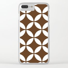Palm Springs Screen: Brown Clear iPhone Case