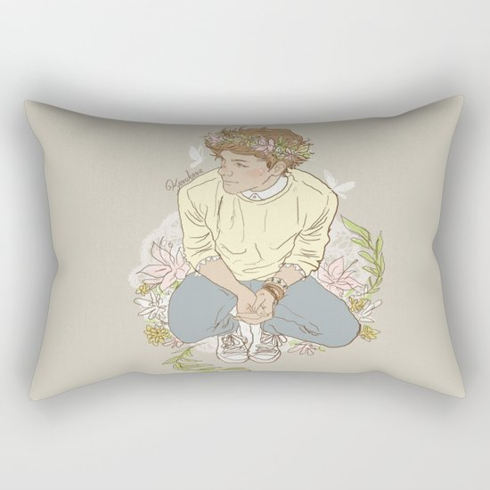 """ The Sun-Kissed Boy "" Rectangular Pillow"