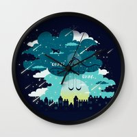 tfios Wall Clocks featuring Stars and Constellations by Risa Rodil