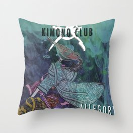 Kimono Club Throw Pillow