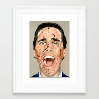 american psycho Framed Art Prints featuring American Psycho by JackyAttacky