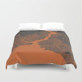 Istanbul Map Duvet Cover