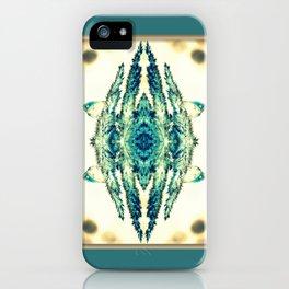 blue grass mosaic iPhone Case