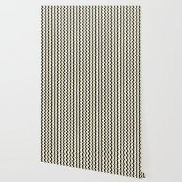 Black Gold White ZigZag Pattern 1 Wallpaper