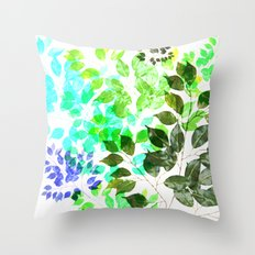 Ficus Leaves Throw Pillow