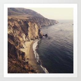 Cliffs of Big Sur Art Print