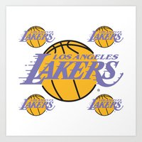 lakers Art Prints featuring Lakers by Dexter Gornez