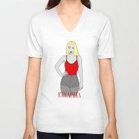 iggy V-neck T-shirts featuring Iggy Art. by MySistersaHippie