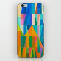 climbing iPhone & iPod Skins featuring By Climbing Colors by Fernando Vieira