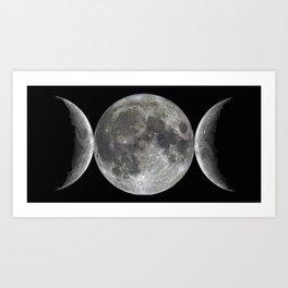 Triple goddess | Moon | Moons | Goddess and God Art Print