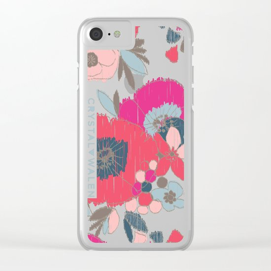 Janis Flower Clear iPhone Case