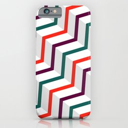 Abstract Vintage Zig Zag iPhone Case