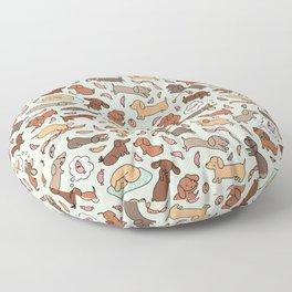 Wiener Dog Wonderland Floor Pillow