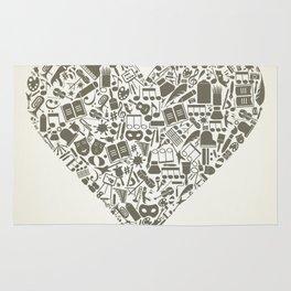 Art heart Rug
