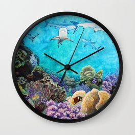 Shiver - Sharks in the Reef Wall Clock