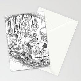 Anatomy Series: Skull Light Bulb Flowers Stationery Cards
