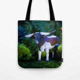 A Steer Cattle Cow at Night Tote Bag
