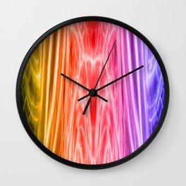 cosmic rainbow universe Wall Clock