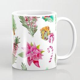 Christmas Pattern with Australian Native Bottlebrush Flowers Coffee Mug