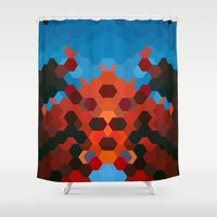 crab Shower Curtains featuring CRAB by ED design for fun