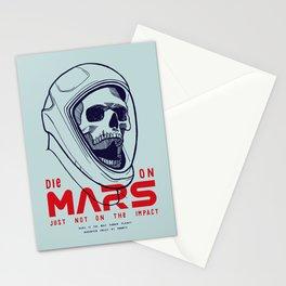 Die On Mars Stationery Cards