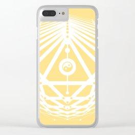 Radiant Abundance (light yellow-white) Clear iPhone Case