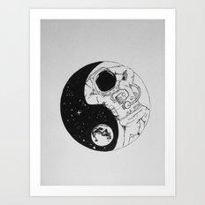 Yin Yang Universe Art Print
