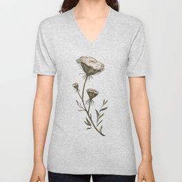 Queen Anne's Lace Unisex V-Neck