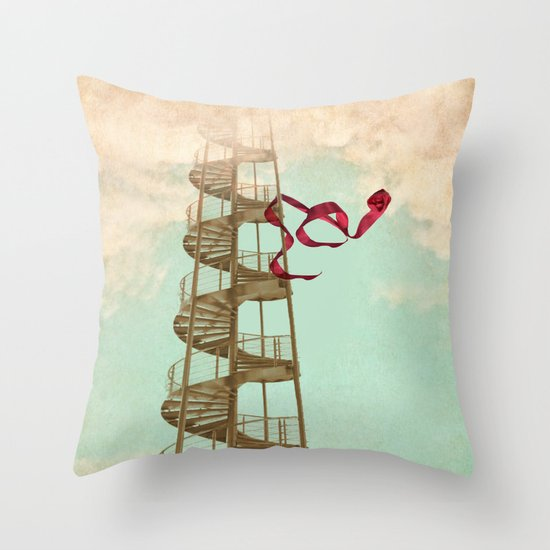 Stair way to nowhere Throw Pillow