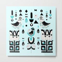 Soul Birds And Moondrops Metal Print