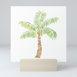 Palm Tree Watercolor Mini Art Print