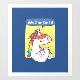 Unicorn Girl Power Kunstdrucke
