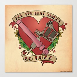 All the Best Things Go Buzz Canvas Print