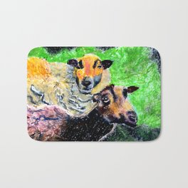 Two Ewes at Sunset Bath Mat