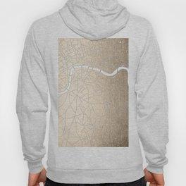 Gold on White London Street Map II Hoody