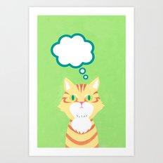 cat 2-British Shorthairs Art Print