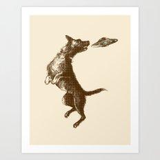 Flying Disc Art Print