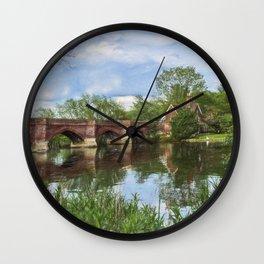 Clifton Hampden Bridge Wall Clock
